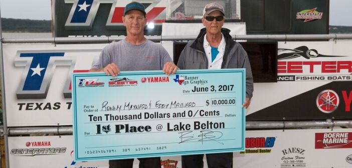 RONNY & EDDY MAYNARD BRING IN 21.28LBS AND WIN $10K ON BELTON