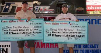 HAROLD MOORE & KRIS WILSON WIN THE 2017 TTZ CHAMPIONSHIP ON SAM RAYBURN AND TAKE HOME $30,000