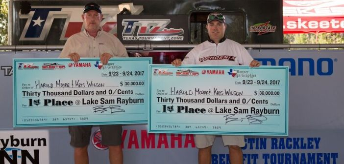 HAROLD MOORE & KRIS WILSON WIN THE 2017 TTZ CHAMPIONSHIP ON SAM RAYBURN AND TAKE HOME $30,000