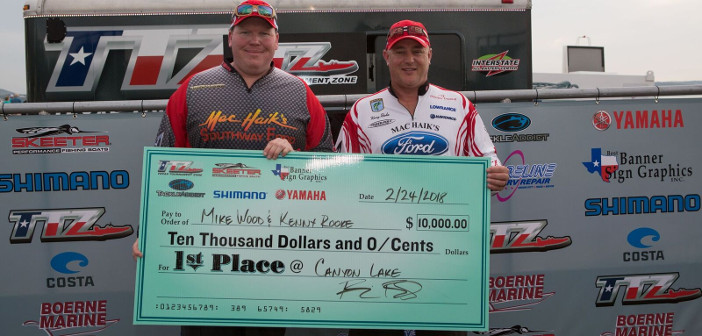 MIKE WOOD & KENNY ROOKE TOP 156 TEAMS ON CANYON LAKE AND TAKE HOME $10,000