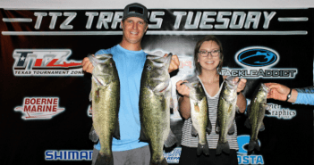 Larson and Stacks win $710 on Travis Tuesday with 17.59 lbs