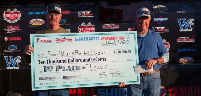 RANDY HIBLER & RANDALL CHRISTIAN TOP 190 TEAMS ON TRAVIS AND TAKE HOME OVER $12,000