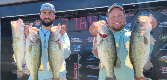 AUSTIN QUIET & BRIAN ARABIE WIN ON CHOKE CANYON WITH 27.64LBS