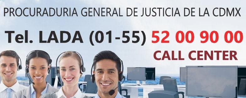 CALL CENTER DE LA PGJ CDMX