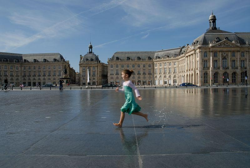 La Place de la Bourse, Bordeaux (33).