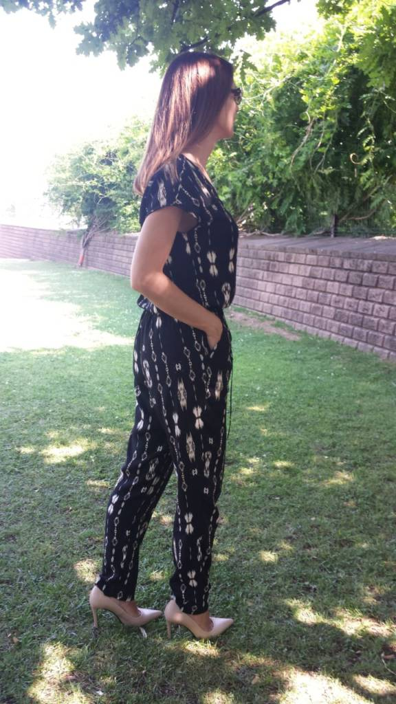 Jumpsuit estampado negro