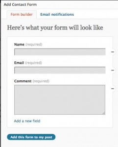Contact - form builder