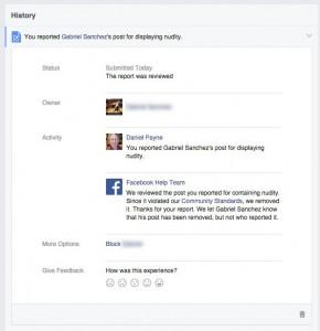 Facebook confirmation