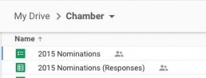 Google response spreadsheet