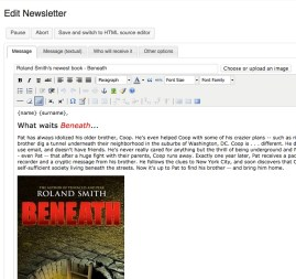 Composing the Newsletter