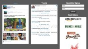 Footer with social media