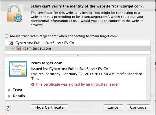 Safari Mac error