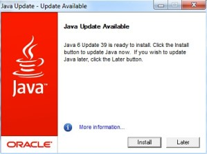 Read more about the article Keep Safe, Install the Latest Java Updates