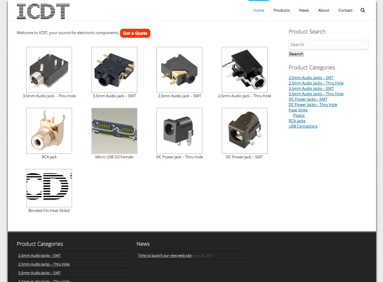 A New Parts Catalog Web Site