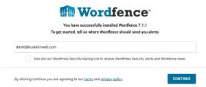 Wordfence email