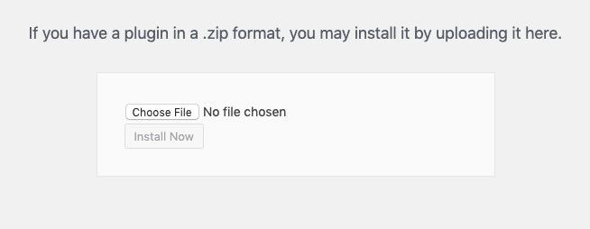 Uploading a WordPress Plugin