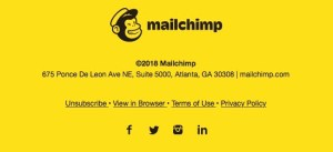 Mailchimp unsubscribe