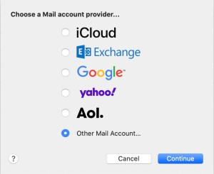 Setting up Apple Mail for IONOS