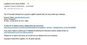 Phishing LogMeIn
