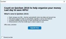 Quicken upgrade