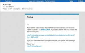 Ruth - confirm email