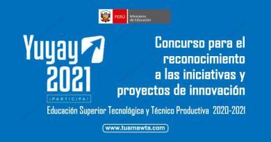 """MINEDU: Participa del Concurso de las iniciativas y proyectos de innovación """"Yuyay 2021"""""""