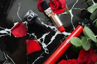 [唇物] Giorgio Armani奢華絲絨訂製唇萃400與Dior 藍星唇膏999。紅唇唇膏推薦!