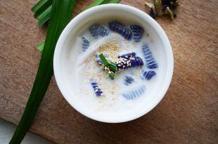 [食譜] 蝶豆花甜點丸子做法ครองแครง น้ำ กะทิ(好喝椰奶甜湯做法)