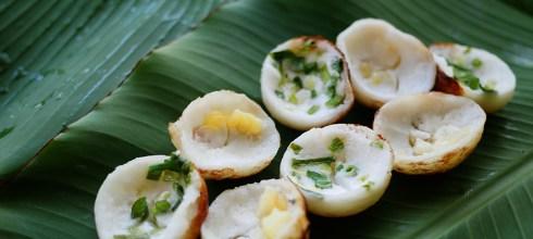 [食譜] 泰式卡農扣椰奶燒,泰國點心椰奶玉米燒。Khanom Khrok(ขนมครก)