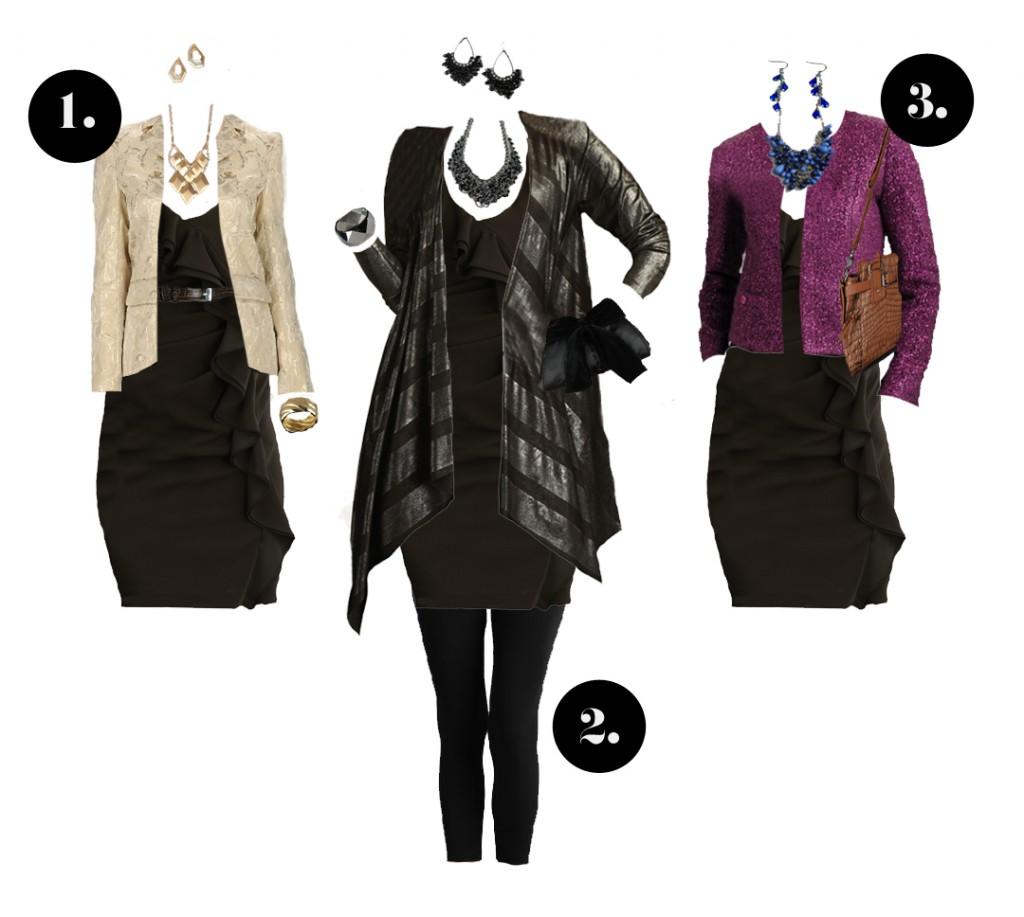 3 distintas formas de llevar el vestidito negro