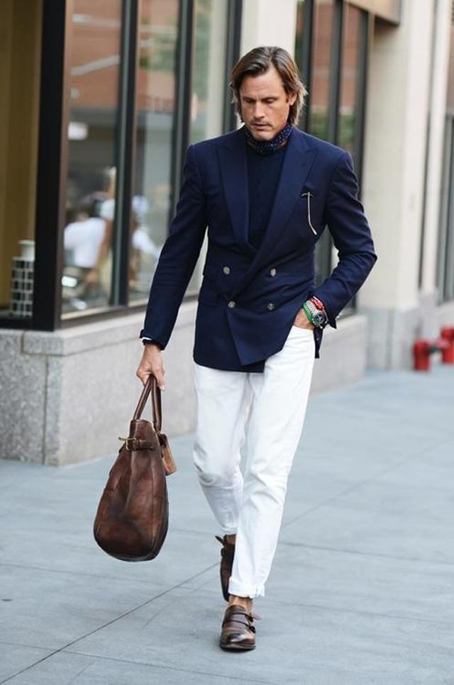 e86c58458 Imagen hombre  ¿Cómo combinar un pantalón blanco en invierno ...