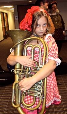Zombie rag doll tuba girl