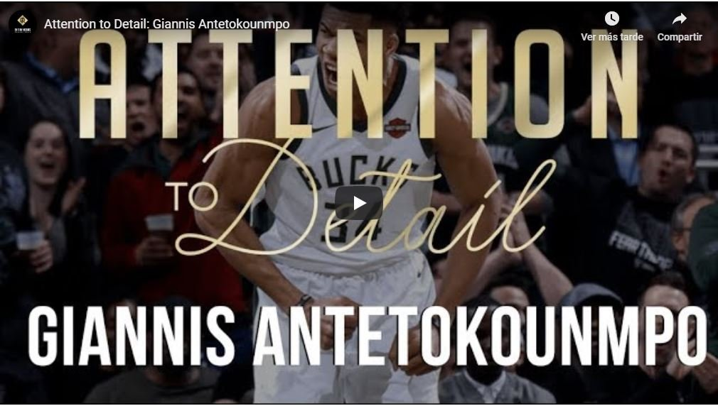 Carátula Attention to detail Giannis Antetokounmpo