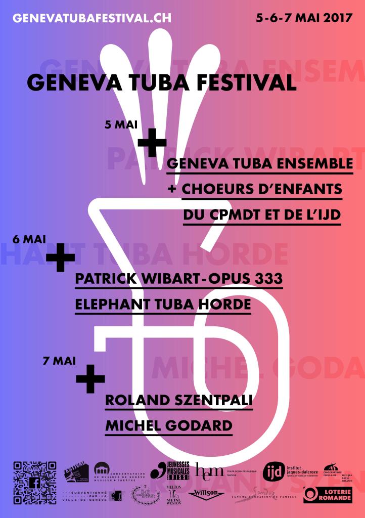 affiche du Geneva Tuba festival