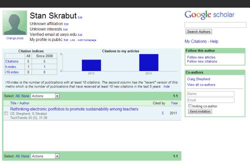 Skrabut's Google Citations