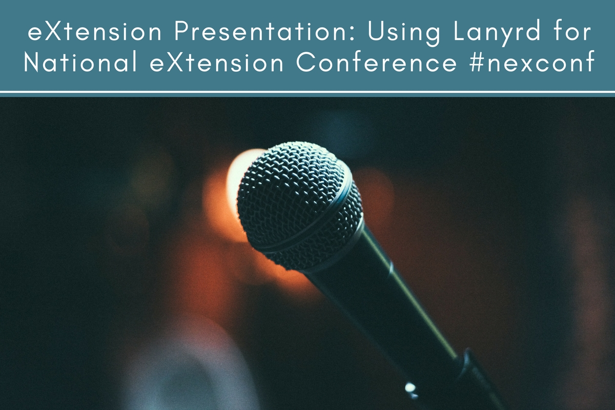 eXtension Presentation: Using Lanyrd for National eXtension Conference #nexconf