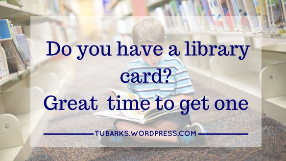 Do you have a library card? Great time to get one