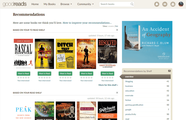 Goodreads Recommendation List