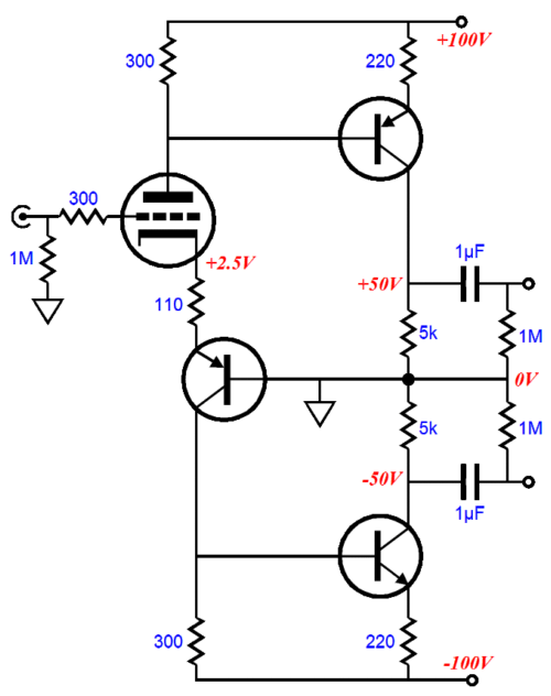 Hybrid Split-Load Phase Splitter