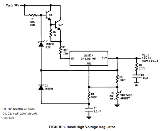 high voltage regulator circuit
