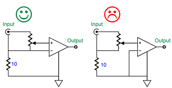 differential amplifier using two opamps