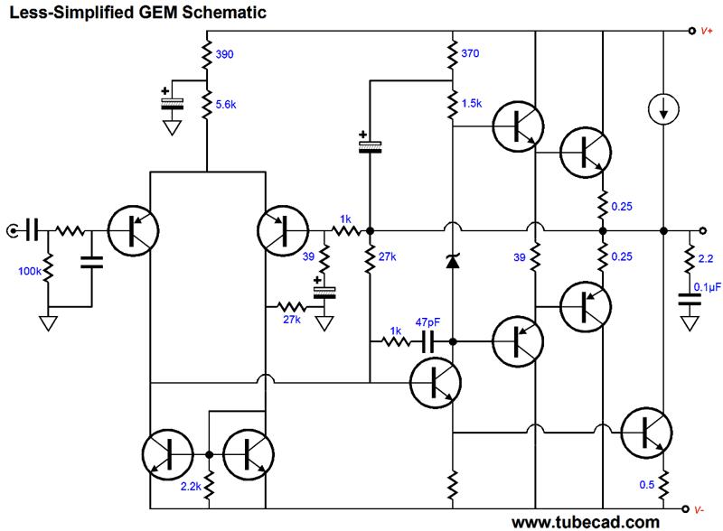 the gem class a ab amplifier