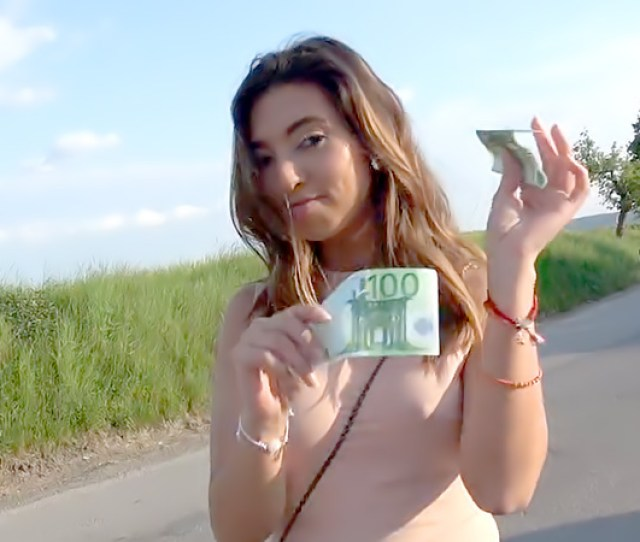 Mexican Babe Gives Roadside Blowjob