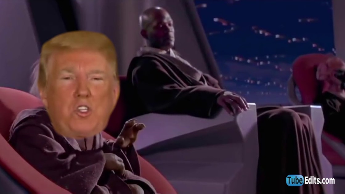 May the SPACE FORCE be with you!   Trump Space Force Parody