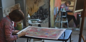 PAmeneyro, in the studio. Photo by Brent Ameneyro
