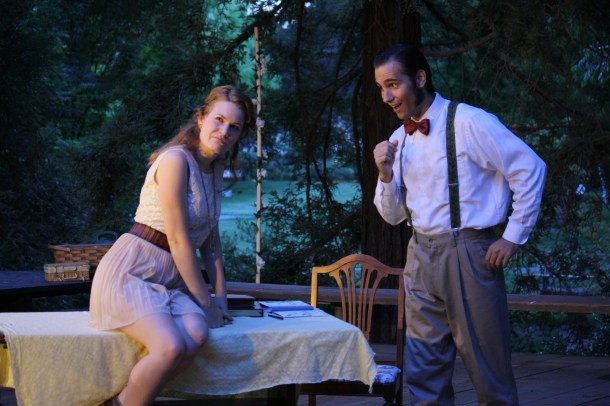 Cody and Kevin Ganger as Cecily and Algernon in The Importance of Being Earnest