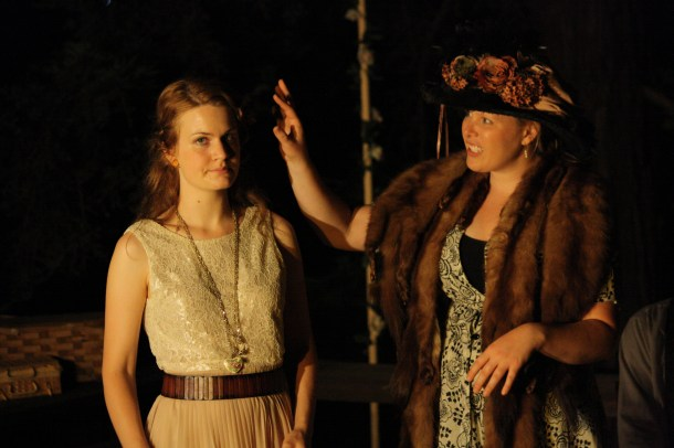 Cody Ganger (left) and Steph Hankinson as Cecily Cardew and Lack Bracknell in The Importance of Being Earnest.