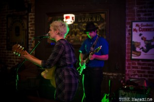 Lauren Cole Norton accompanied by Parker McDonald at the Fox and Goose. Sacramento CA. Jan. 2014 Photo Melissa Uroff