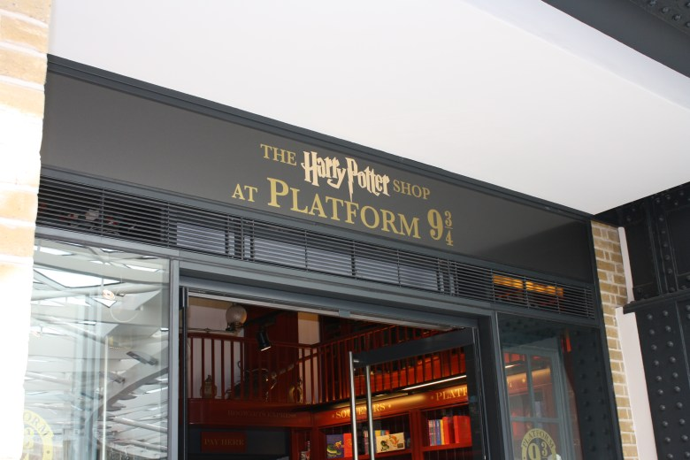 At Platform 9 3/4. Full of temptations for us muggles. Photo by Andrea Gonzalez.