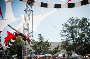 The Vau de Vire Society performing aerial acts at the 2014 Lagunitas Beer Circus in Petaluma CA.